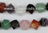 CNG27 15.5 inches 12*12mm faceted nuggets mixed gemstone beads