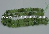 CNG2719 10*14mm - 13*18mm faceted nuggets green rutilated quartz beads