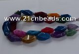CNG2737 15.5 inches 15*30mm - 20*40mm nuggets agate beads