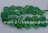 CNG2767 15.5 inches 30*40mm - 45*50mm freeform druzy agate beads