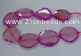 CNG2790 15.5 inches 30*40mm - 40*55mm freeform agate beads