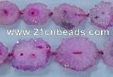 CNG2968 15.5 inches 8*10mm - 15*18mm freeform druzy agate beads