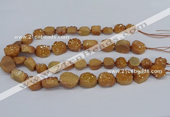CNG2978 15.5 inches 12*16mm - 20*25mm freeform druzy agate beads
