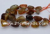 CNG3046 25*30mm - 30*40mm nuggets agate gemstone beads