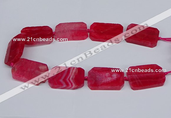 CNG3082 15.5 inches 30*40mm - 35*45mm freeform agate beads