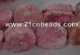 CNG3146 15.5 inches 12*16mm - 20*25mm freeform druzy agate beads