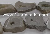 CNG3160 15.5 inches 13*18mm - 18*25mm freeform plated druzy agate beads