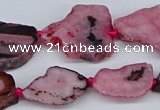 CNG3169 15.5 inches 15*20mm - 25*30mm freeform druzy agate beads