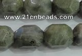 CNG320 15.5 inches 15*20mm faceted nuggets labradorite gemstone beads