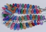 CNG3228 10*25mm - 12*50mm faceted nuggets agate beads