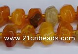 CNG3365 15.5 inches 10*14mm - 12*16mm nuggets agate beads