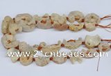 CNG3374 20*30mm - 30*45mm freeform plated druzy agate beads
