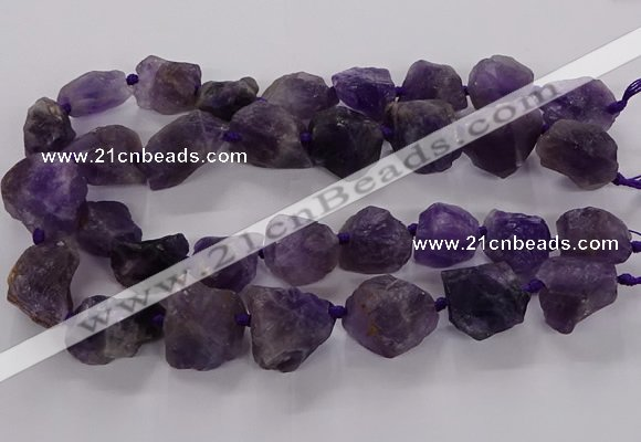 CNG3423 15.5 inches 15*20mm - 20*30mm nuggets amethyst beads