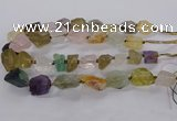 CNG3428 15.5 inches 15*20mm - 20*30mm nuggets mixed quartz beads