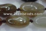 CNG348 15.5 inches 15*20mm - 20*30mm nuggets agate gemstone beads