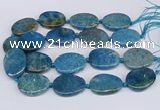 CNG3484 25*35mm - 30*40mm freeform chrysanthemum agate beads