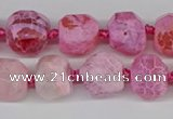 CNG3501 15.5 inches 12mm - 14mm faceted nuggets agate beads