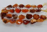 CNG3508 15.5 inches 15*20mm - 18*25mm faceted nuggets agate beads
