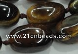 CNG353 15.5 inches 15*20mm - 20*35mm nuggets tiger eye beads