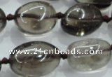 CNG355 15.5 inches 15*20mm - 25*30mm nuggets smoky quartz beads