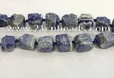 CNG3570 15.5 inches 18*20mm - 25*30mm nuggets rough lapis lazuli beads