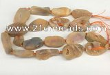 CNG3620 20*35mm - 30*45mm freeform plated druzy agate beads