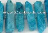 CNG3632 15.5 inches 5*30mm - 8*35mm sticks druzy agate beads