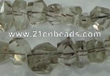 CNG366 15.5 inches 10*20mm faceted nuggets smoky quartz beads