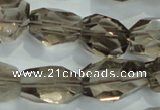 CNG401 15.5 inches 15*20mm faceted nuggets smoky quartz beads