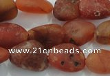 CNG430 15.5 inches 13*18mm nuggets agate gemstone beads