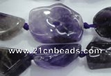 CNG441 15.5 inches 13*18mm – 18*28mm nuggets amethyst beads