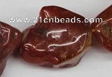 CNG49 15.5 inches 28*32mm nuggets red agate gemstone beads