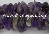 CNG5031 15.5 inches 6*15mm - 8*25mm nuggets amethyst beads
