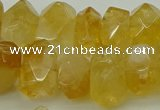 CNG5048 15.5 inches 12*16mm - 13*18mm faceted nuggets citrine beads