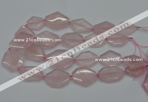 CNG5077 15.5 inches 20*30mm - 35*45mm freeform rose quartz beads