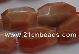 CNG5091 15.5 inches 13*18mm - 15*25mm faceted nuggets sunstone beads