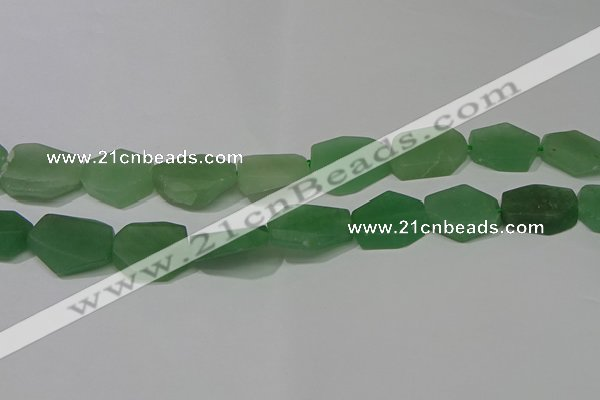 CNG5124 14*20mm - 18*25mm freeform matte green aventurine beads