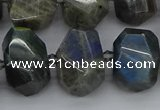 CNG5222 15.5 inches 12*16mm - 15*20mm faceted nuggets labradorite beads