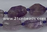 CNG5226 15.5 inches 10*15mm - 15*25mm faceted nuggets amethyst beads