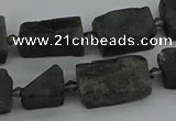CNG5246 15.5 inches 8*12mm - 15*25mm nuggets labradorite beads