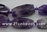 CNG5266 15.5 inches 10*15mm - 15*25mm faceted nuggets amethyst beads
