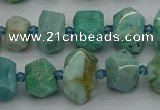 CNG5270 15.5 inches 8*12mm - 12*16mm faceted nuggets amazonite beads