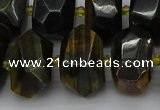 CNG5275 15.5 inches 12*16mm - 15*20mm faceted nuggets blue tiger eye beads