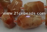 CNG5305 15.5 inches 12*16mm - 15*20mm faceted nuggets moonstone beads
