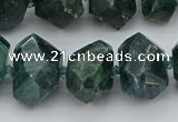 CNG5340 12*16mm - 15*20mm faceted nuggets green apatite beads