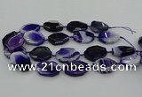 CNG5346 15.5 inches 25*35mm - 30*40mm faceted freeform agate beads