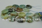 CNG5352 15.5 inches 20*30mm - 35*45mm faceted freeform amazonite beads