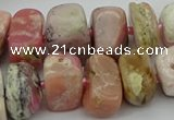 CNG5381 15.5 inches 10*14mm - 13*18mm nuggets pink opal beads