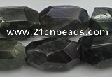 CNG5389 15.5 inches 12*16mm - 15*25mm faceted nuggets labradorite beads