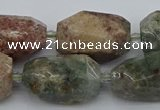 CNG5396 15.5 inches 12*16mm - 18*28mm faceted nuggets ghost gemstone beads
